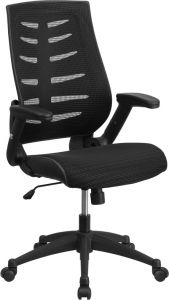 High Back Designer Task Office Chair With Mesh Padded Seat & Height Adjustable Arms