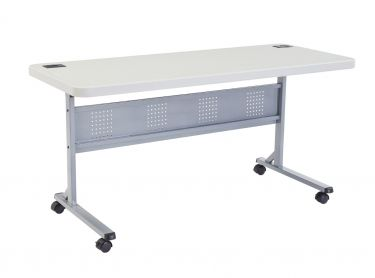 National Public Seating Flip-N-Store Training Table with Wheel Casters