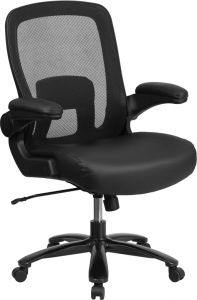 Pro-Tough Big & Tall 500 lb Capacity Leather Swivel Task Chair