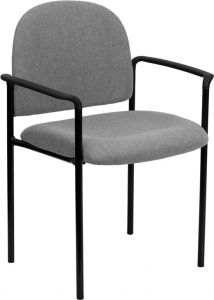 Fabric Stacking Side Chair With Arms