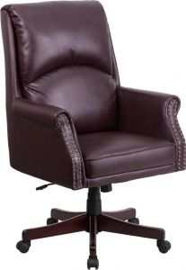 High Back Pillow Back Leather Executive Swivel Office Chair