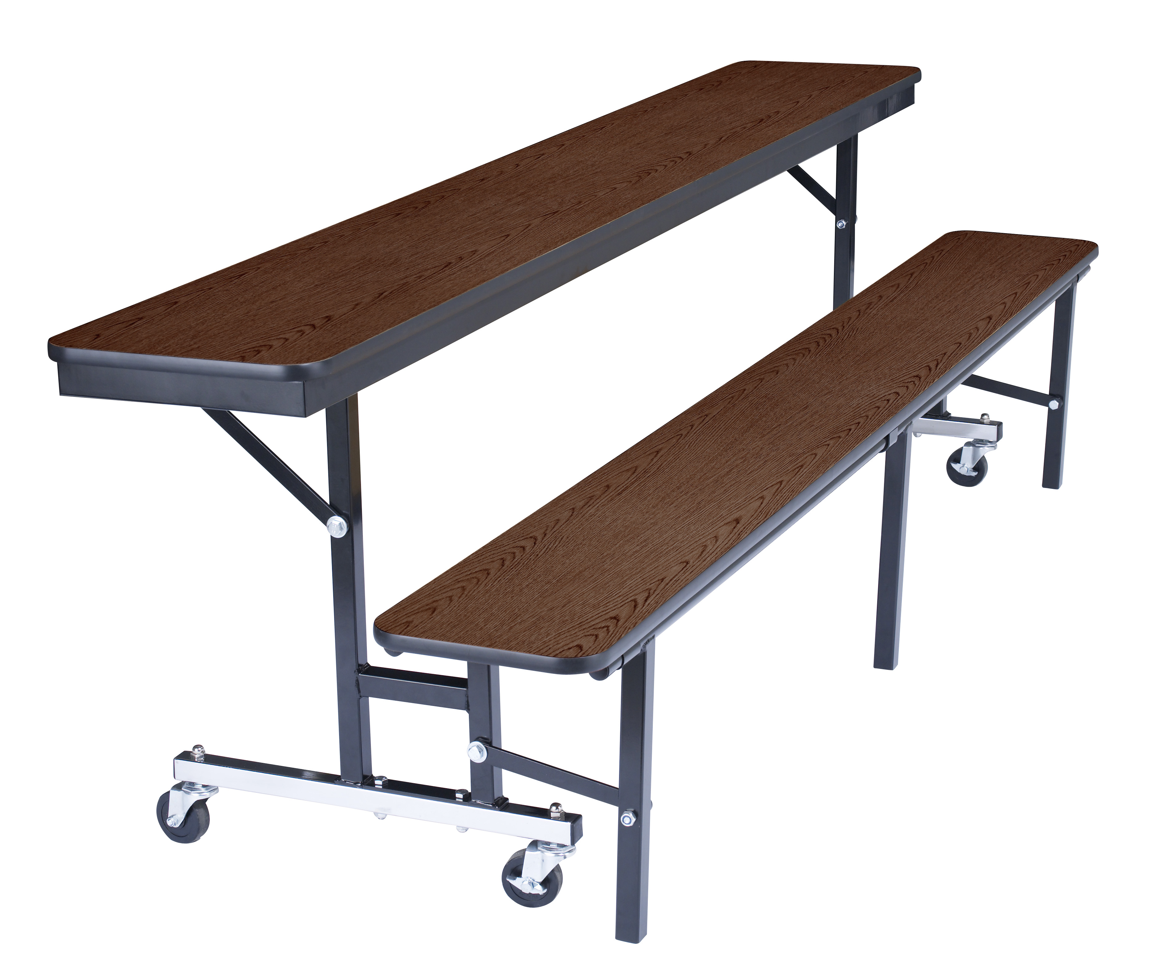 NPS 7' Rectangular Cafeteria Convertible Bench Table - Plywood Core