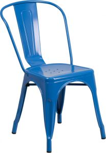 HUSKY Seating® 500 LB Stackable Indoor-Outdoor Bistro Style Metal Chair