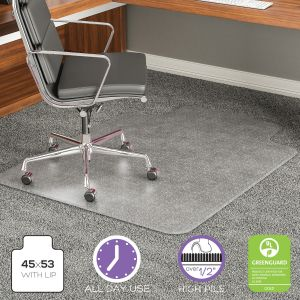 Big & Tall All-Pile Carpet Chair Mat with Beveled Edge & Lip