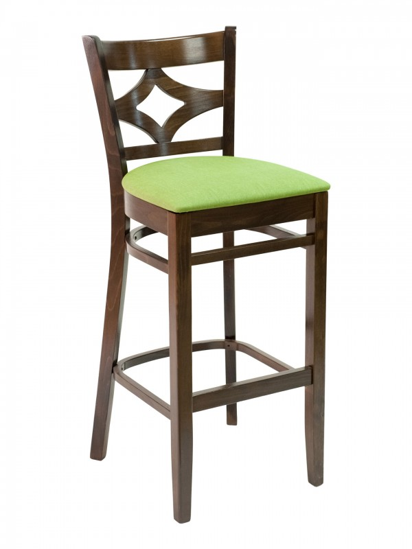 Florida Seating CON-02B Diamond Back Wood Restaurant Bar Stool