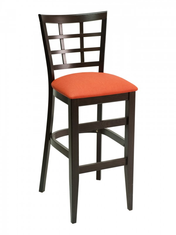 Florida Seating CON-03B Window Back Wood Restaurant Bar Stool
