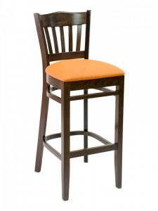 Florida Seating CON-06B Vertical Back Restaurant Bar Stool