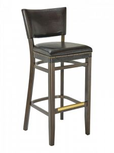 Florida Seating CON-16B Upholstered Walnut Restaurant Bar Stool