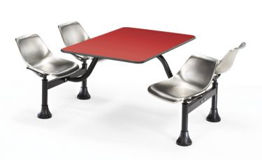 OFM Cluster Table with Laminate Top and Steel Chairs