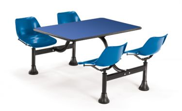 OFM Cluster Table with Blue Laminate Top & Chairs