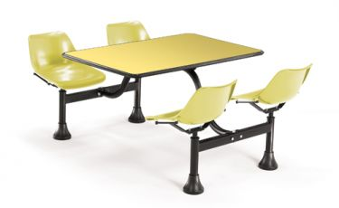 OFM Cluster Table with Yellow Laminate Top