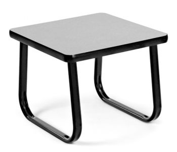 """OFM 20"""" Square Occasional Table with Sled Base"""