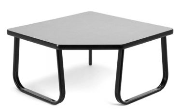 OFM Corner Occasional Table with Sled Base