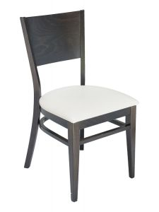 Florida Seating CON-01S Solid Back Walnut Restaurant Chair