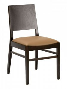 Florida Seating CON-04S Solid Wood Back Restaurant Chair