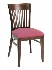 Florida Seating CON-915S Vertical Back Wood Restaurant Chair