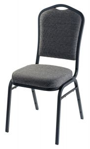 4 PACK Silhouette Fabric Banquet Chair - Black Sandtex Frame