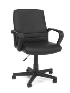 OFM Black Vinyl Mid-Back Supportive Executive Conference Chair