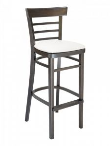 Florida Seating ECO-05B Ladder Back Wood Restaurant Bar Stool