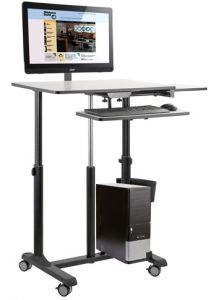 Oklahoma Sound EduTouch Pro Sit & Stand Presentation Cart