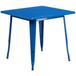 "HUSKY Seating® 31.5"" Square Metal Indoor-Outdoor Table"