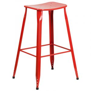 "HUSKY Seating® 352 LB 30"" H Metal Indoor-Outdoor Bar Stool"