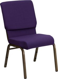 HUSKY Seating® 800 LB Heavy Duty Fabric Stack Auditorium Chair - Gold Vein