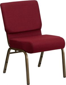 "HUSKY Seating® 800 LB Heavy Duty Auditorium Stack Chair with Ganging - 21"" Wide"