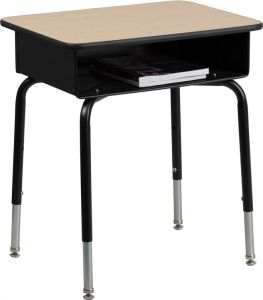 School Desk with Front Open Storage