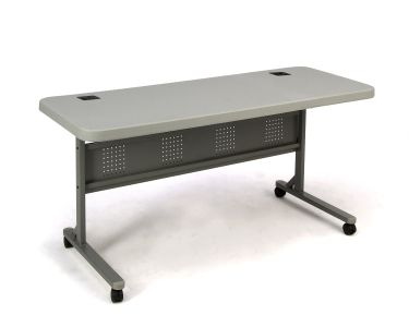 """16 PACK National Public Seating Flip N' Store 24"""" W x 60"""" L Training Table"""