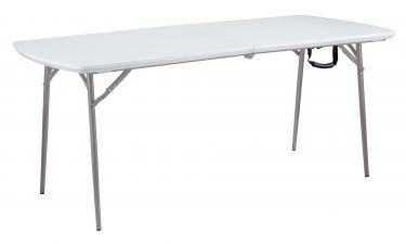"National Public Seating Bi-Fold Compact Folding Table - 30"" W x 72"" L"