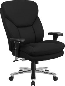 Extra Wide Big & Tall 24/7 400 Lb Office Chair with Adjustable Lumbar Support