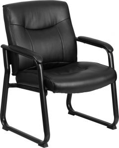 Ares 500 LB Capacity Big & Tall Leather Executive Side Chair