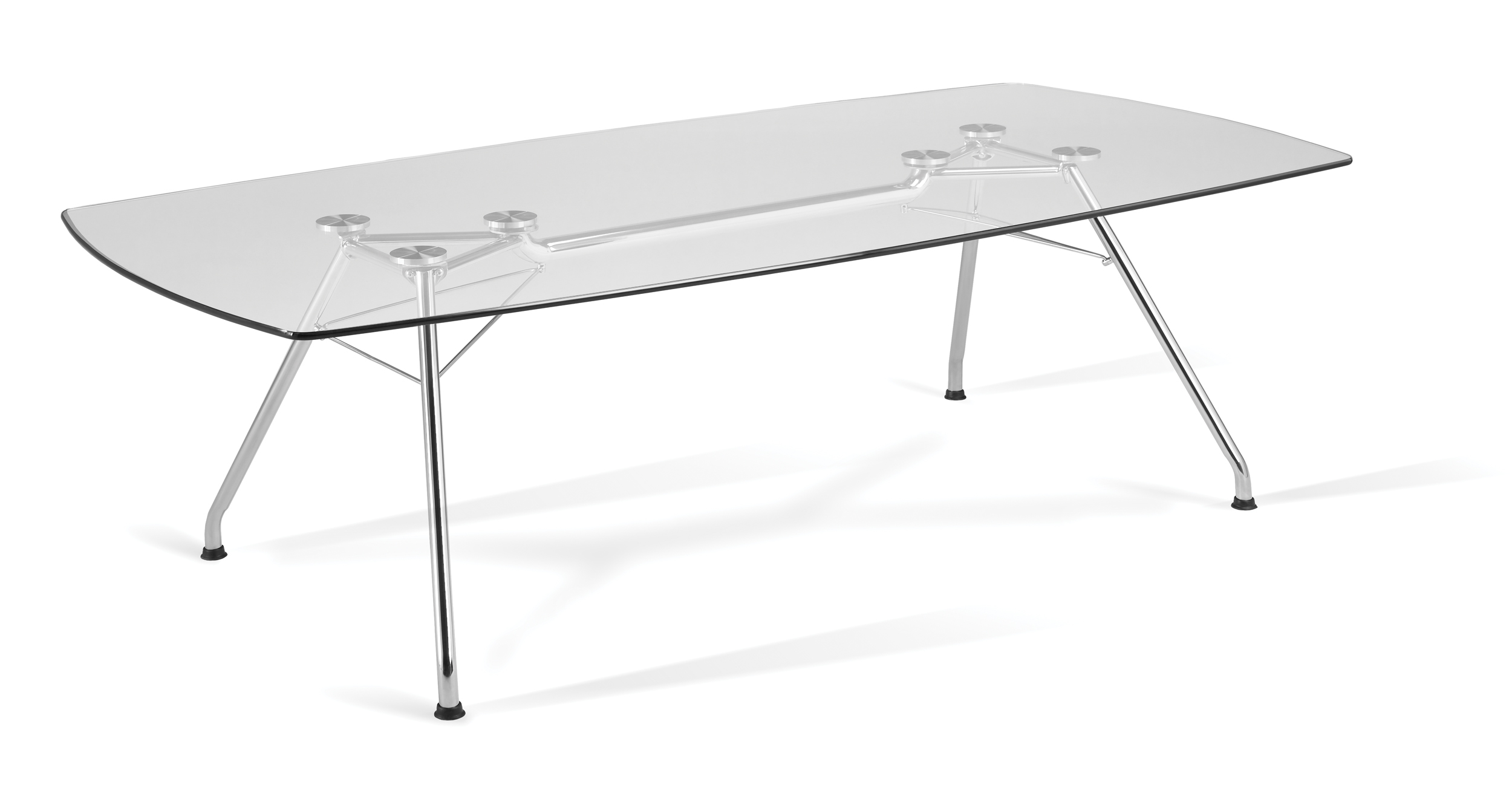 OFM Grafton Series Glass Conference Table