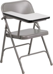Steel Folding Chair with Right Handed Tablet Arm