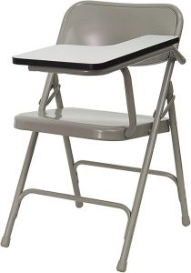Steel Folding Chair with Left Handed Tablet Arm
