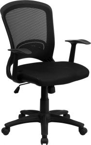 Modern Mid Back Mesh Task Chair with Padded Seat
