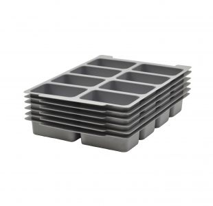 6 Pack Gratnells Molded 8 Section Insert for F1 Trays