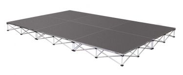 IntelliStage 12' x 8' Portable Stage Package with Carpeted Surface - 96 sqft - Select Height