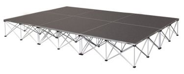 "IntelliStage 12' x 8' Portable Stage Package with Carpeted Surface - 96 sqft - 16"" Height"