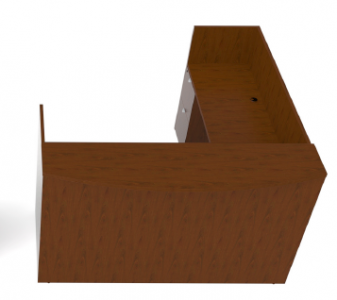 Cherryman Jade Series Reception L-Desk with Wood Transaction Shelf