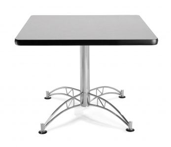 OFM Square Chrome X-Base Multi-Purpose Cafe Table
