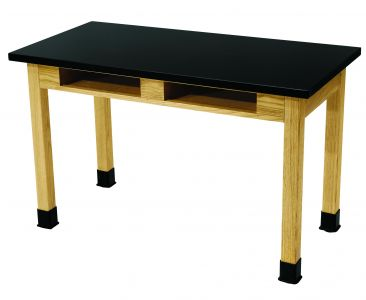 NPS Chemical Resistant Science Lab Table with Book Cubby