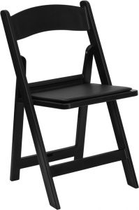 Pro-Tough 1000 lb. Commercial Resin Folding Event Chair with Padded Seat