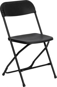 Pro-Tough Heavy Duty Commercial 800 lb. Plastic Folding Chair with Metal Frame
