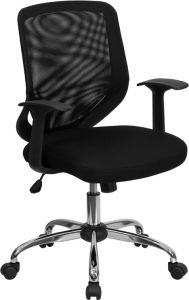 Trent Series Mid Back Task Chair with Padded Seat & Chrome Base