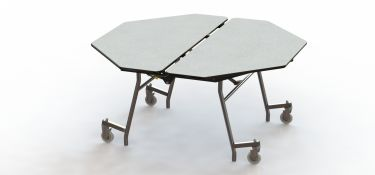 "NPS 60"" x 60"" Mobile Octagon Cafeteria & Activity Table - Fiberboard Core"