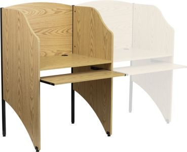Starter Study Carrel with Pull-Out Keyboard