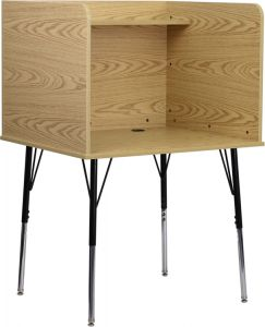 Study Carrel with Adjustable Legs