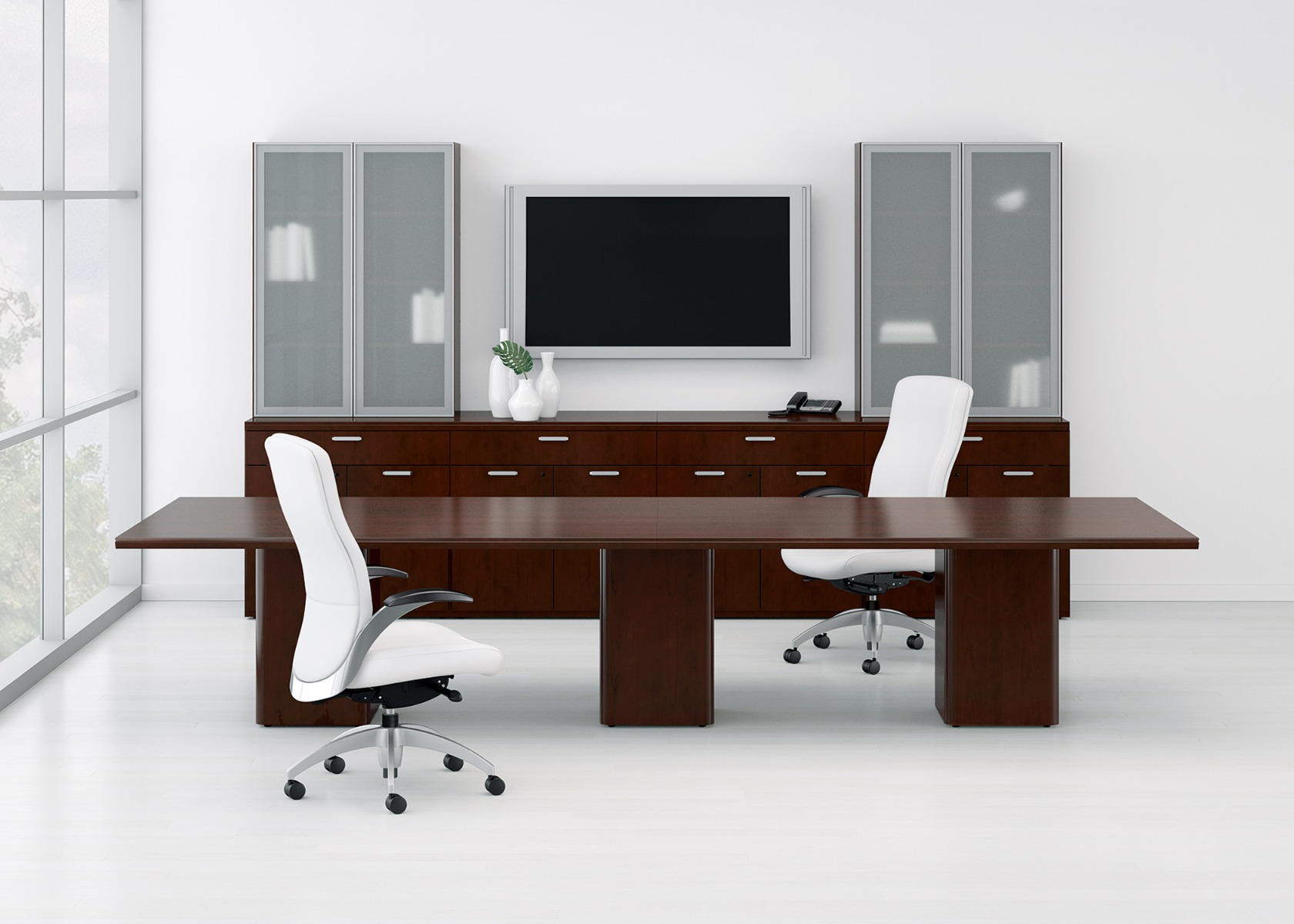 WaveWorks Laminate Conference Table with Panel Base